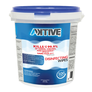 Aktive disinfectant wipes