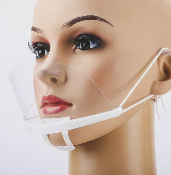 Clear Plastic Mouth Shield Mask